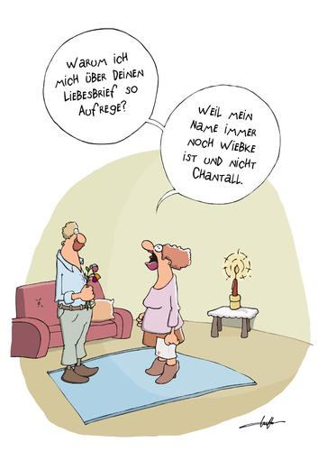Cartoon: Liebesbrief (medium) by luftzone tagged cartoon,cartoonalarm ...