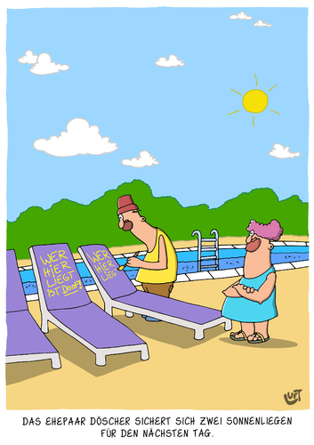 Sonnenliegen Von Luftzone Philosophie Cartoon Toonpool