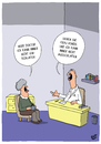 Cartoon: Schlafprobleme (small) by luftzone tagged thomas,luft,cartoon,lustig,schlafprobleme,arzt,patient,patientin