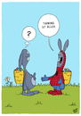 Cartoon: Spiderman (small) by luftzone tagged thomas,luft,cartoon,lustig,ostern,hase,bunny,spiderman,kostüm,verkleidung,ei,eier