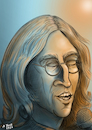 Cartoon: John Lennon Karikatur (small) by A Tale tagged john,lennon,the,beatles,singer,songwriter,musik,pop,legende,imagine,jahrestag,achtzigster,geburtstag,attentat,vierzigster,todestag,karikatur,caricature,gesicht,porträt,bild,cartoon,pressezeichnung,illustration,tale,agostino,natale