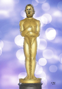 Cartoon: Oscar für Leo (small) by A Tale tagged leonardo,dicaprio,oscar,hollywood,film,movie,the,revenant,schauspieler,erstmals,academy,award,2016,auszeichnung,nominierungen,hauptrolle,actor,leading,role,star,statue,portraet,cartoon,karikatur,illustration