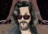 Cartoon: The Dude (small) by A Tale tagged jeff,bridges,dude,big,lebowski,film,movie,coen,brothers,schauspieler,actor,portrait