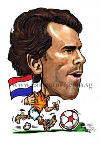 Cartoon: Caricature of Ruud van Nistelroo (medium) by jit tagged caricature,of,ruud,van,nistelrooy