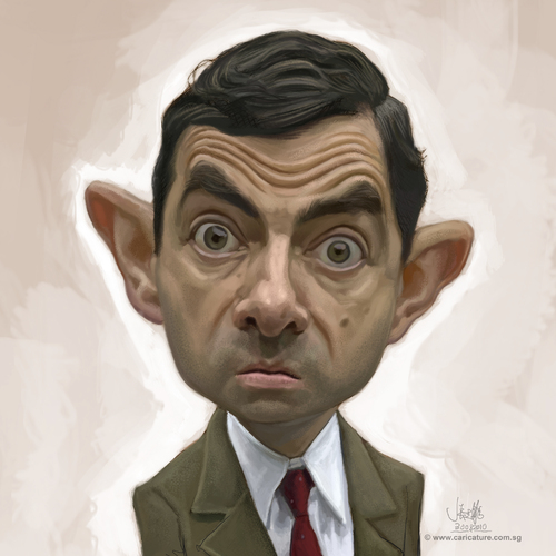 Cartoon: digital caricature of Mr Bean (medium) by jit tagged digital,caricature,of,mr,bean