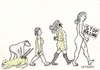 Cartoon: EVOLUTION (small) by serkan surek tagged surekcartoons