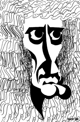 Isaac Newton Von Xavi Caricatura Berühmte Personen Cartoon Toonpool