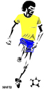 Cartoon: Socrates (small) by Xavi tagged socrates,futebol,football,soccer,brasil,brazil,corinthians,sport