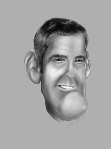 Cartoon: George Clooney (medium) by cesar mascarenhas tagged george,clooney,caricature,sketchbook,pro,ipad,cesar,mascarenhas