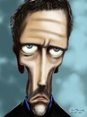 Cartoon: Dr. House - Hugh Laurie (small) by cesar mascarenhas tagged hugh,laurie,house,doctor,tv,show,cesar,mascarenhas