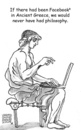 Cartoon: Ancient Greek Facebook (small) by viconart tagged philosophy,greek,facebook,laptop,cartoon,viconart