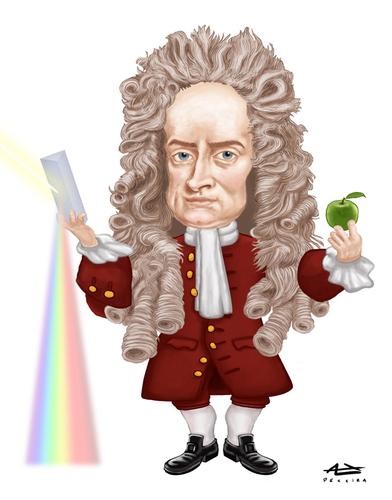 Isaac Newton Von Alex Pereira Berühmte Personen Cartoon Toonpool