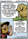 Cartoon: Swampys Florida Cartoon Webcomic (small) by RobSmithJr tagged ftravel,florida,tourism,flordia,history,swampys,snake,rattlesnake,can,canned,humor,joke,cartoon,cartooning,illustration,indian,jones,temple,of,doom,alligator,gator,alligators