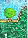 Cartoon: Ecology and technology (small) by Recep ÖZCAN tagged ecology,technology
