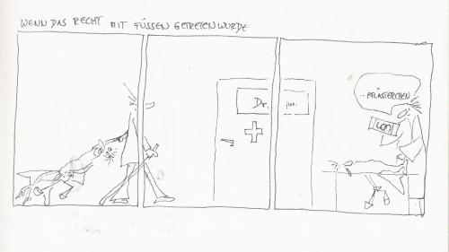 Cartoon: dr.jur (medium) by kika tagged ezt