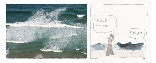 Cartoon: hallo meer (medium) by kika tagged meer,sea,urlaub,strand