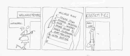 Cartoon: mal wieder was gutes (medium) by kika tagged wellness,