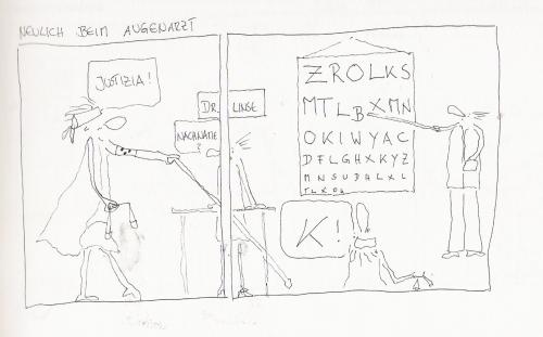Cartoon: neulich beim augenarzt (medium) by kika tagged 4t6q36