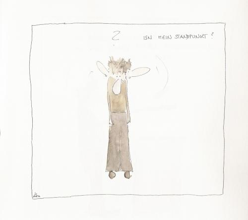Cartoon: wo isn jetzt mein standpunkt? (medium) by kika tagged ez