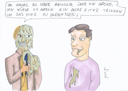 Cartoon: Groko-Umfrage (medium) by gore-g tagged groko,grosse,koalition,umfrage,medien