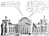 Cartoon: die Enddrohnung (small) by gore-g tagged euwohawk,jäger,90,eurofighter,de,maiziere,drohne