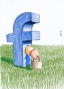 Cartoon: Facebook eine surreale Ansicht (small) by gore-g tagged facebook,gefesselt,social,media,eier,sack,angekettet