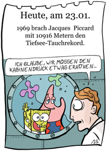 Cartoon: 23. Januar (medium) by chronicartoons tagged piccard,tauchen,sponge,bob,patrick,cartoon