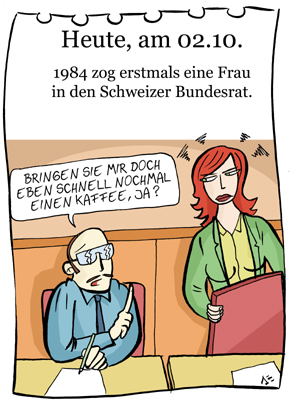 Cartoon: 2. oktober (medium) by chronicartoons tagged schweuz,bundesrat,cartoon