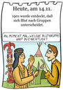 Cartoon: 14. November (small) by chronicartoons tagged blut,blutgruppe,winnetou,old,shatterhand,indianer,blutsbrüder,cartoon
