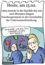 Cartoon: 15. Februar (small) by chronicartoons tagged cartoon,schwimmhäute,taucher