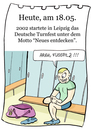 Cartoon: 18.Mai (small) by chronicartoons tagged turnfest,leipzig,sport,fusspilz,umkleide,cartoon