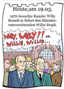 Cartoon: 19. März (small) by chronicartoons tagged willy,brandt,willie,stoph,ddr,brd,chronicartoon