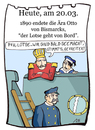 Cartoon: 20. März (small) by chronicartoons tagged bismarck,wilhelm2,hitler,kaiser,seemacht,chronicartoon