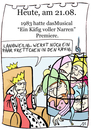 Cartoon: 21. August (small) by chronicartoons tagged käfig,voller,narren