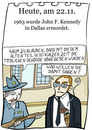 Cartoon: 22.November (small) by chronicartoons tagged kennedy,mord,oswald,cartoon