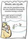 Cartoon: 23. Juni (small) by chronicartoons tagged antarktisvertrag,abrüstung,cartoon
