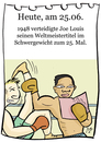 Cartoon: 25. Juni (small) by chronicartoons tagged joe,louis,boxer,boxen,cartoon