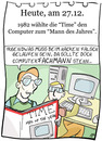 Cartoon: 27. Dezember (small) by chronicartoons tagged computer,time,man,of,the,year,cartoon