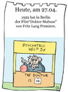 Cartoon: 27.April (small) by chronicartoons tagged mabuse,fritz,lang,klein,rogge,stummfilm,peanuts,cartoon