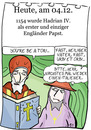 Cartoon: 4. Dezember (small) by chronicartoons tagged papst,hadrian,katholische,kirche,cartoon