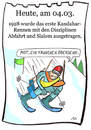 Cartoon: 4.März (small) by chronicartoons tagged ski,abfahrt,slalom,kandahar,cartoon