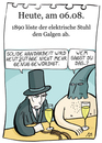 Cartoon: 6. August (small) by chronicartoons tagged elektrischer,stuhl