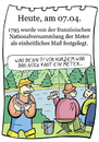 Cartoon: 7. April (small) by chronicartoons tagged meter,fisch,angeln,fluß,köder,cartoon
