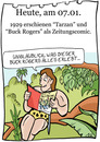 Cartoon: 7.Januar (small) by chronicartoons tagged tarzan buck rogers zeitungscomic comicstrip cartoon
