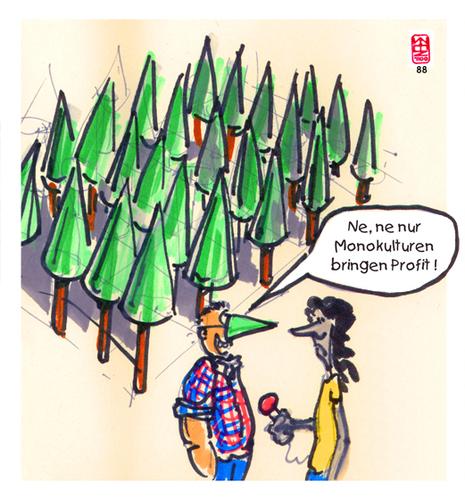 Monokultur Von Zenundsenf Wirtschaft Cartoon Toonpool