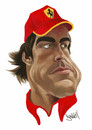 Cartoon: Alonso (small) by Darrell tagged f1,fernando,alonso,motor,sport