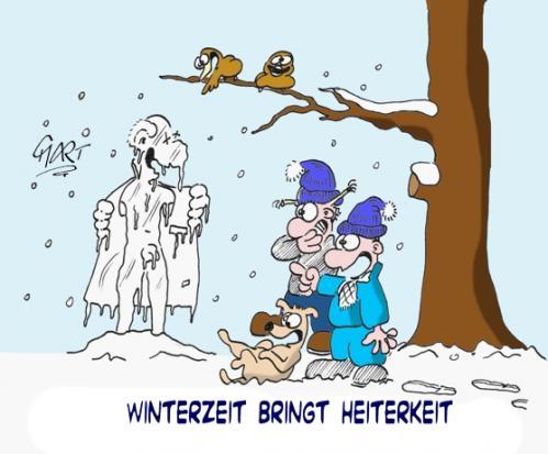 Winterzeit Lustig