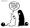 Cartoon: PARTNERS (small) by ELCHICOTRISTE tagged burka woman liberation