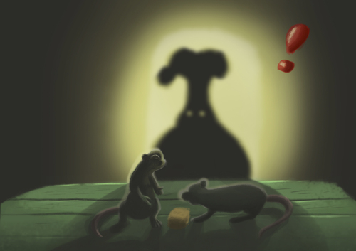 Cartoon: Brother Bandits (medium) by Abe tagged digital,paint,rat,bandit,cheese,kitchen,chef