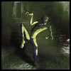 Cartoon: Back Alley Zombie (small) by Abe tagged zombie,alley,dark,horror,light,shade,green,yellow,grey,brown,living,dead,die,walk,walking,death